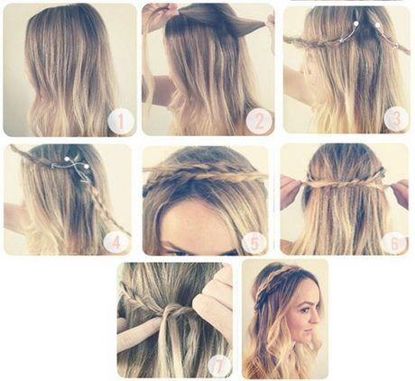 peinados con trenzas paso a paso   Peinado fácil para diario: trenza retorcida paso a paso. Easy …
