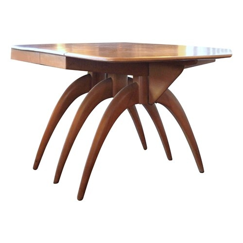 Heywood wakefield butterfly wood dining table tables for Butterfly dining table