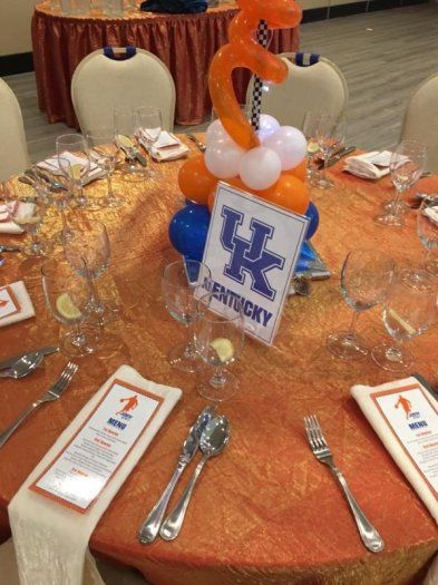 The tables at this basketball themed Bar Mitzvah were named after the Bar Mitzvah boy's favorite college basketball teams.    Bar Mitzvah Tables | Bar Mitzvah Decor | Basketball Bar Mitzvah