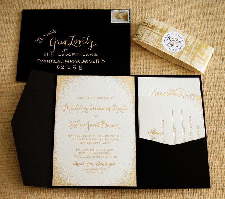 best 25+ black wedding invitations ideas on pinterest | black, Wedding invitations