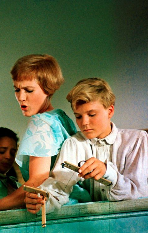"Julie Andrews and Nicholas Hammond from ""The Sound Of Music"""
