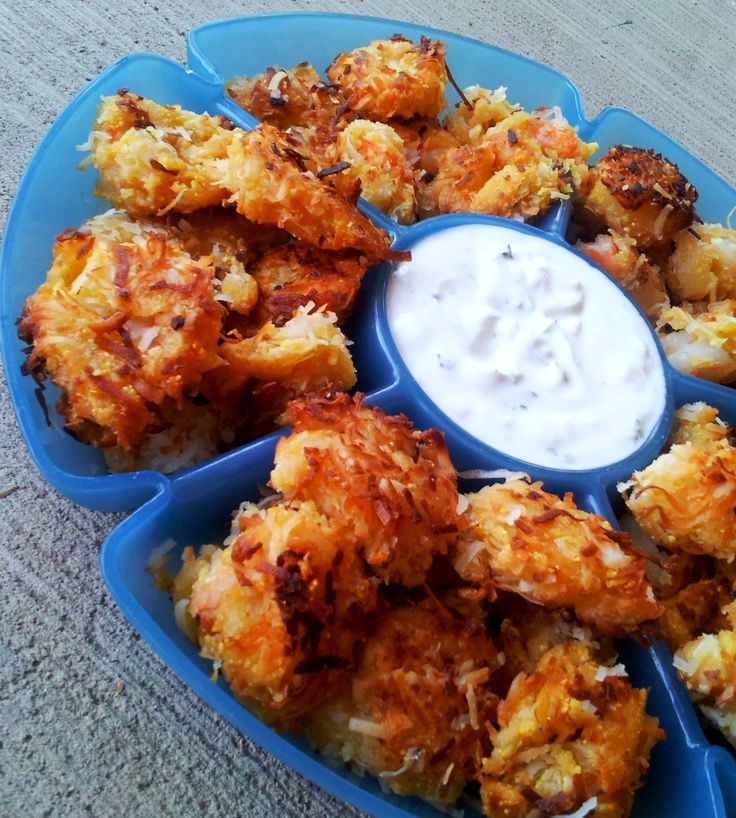 Must try!!!  Coconut Shrimp With Tangy Greek Yogurt Sauce   HealthyRecipesCen... Healthy Recipes - Healthy Recipes - Healthy Recipes