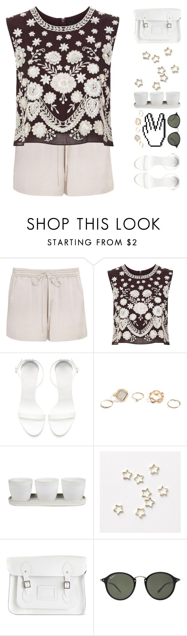 """""""/ I'm gonna stand by you... even if we can't find heaven \"""" by mel2016 ❤ liked on Polyvore featuring Chloé, Needle & Thread, Zara, GUESS, Threshold, The Cambridge Satchel Company and Ray-Ban"""