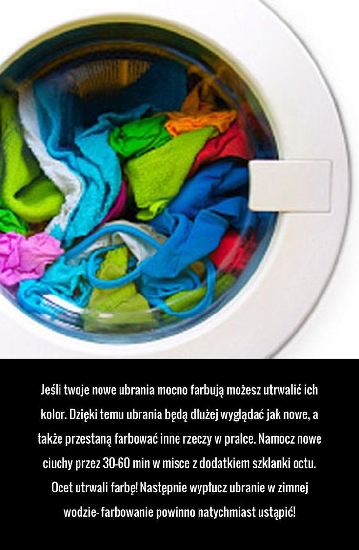 Prosty i skuteczny trik na farbujące nowe ubrania