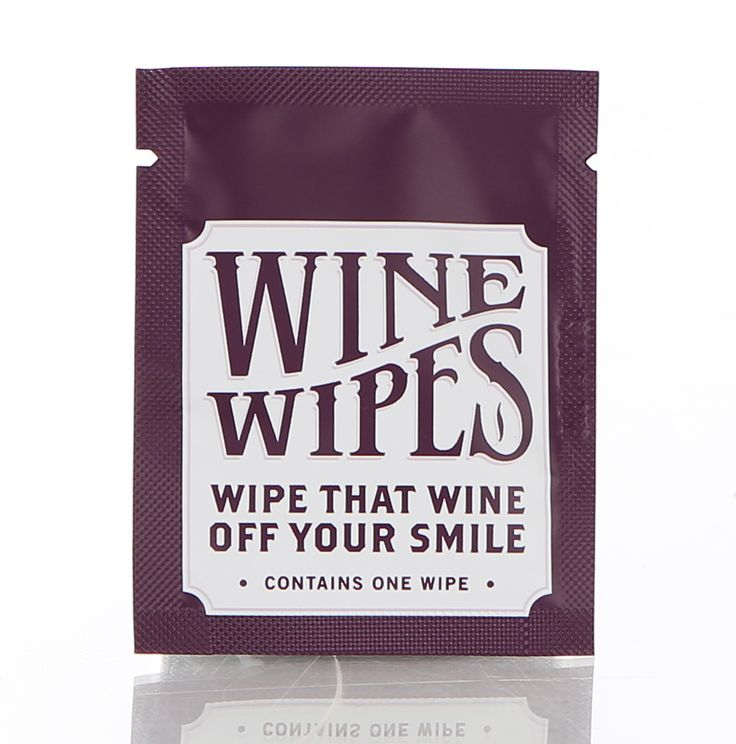 Individually packaged Wine Wipes available for your wine fueled event.  Minimum order of 50.