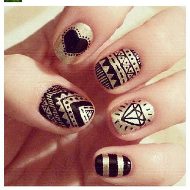 : Nailart, Nail, Nail Designs, Beauty, Nails, Nail Art, Black