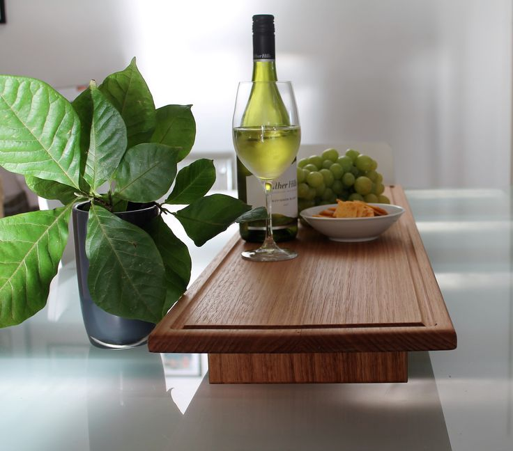 Large wooden platter, perfect for entertaining.