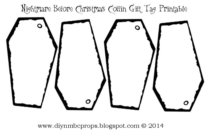 DIY Nightmare Before Christmas Halloween Props: Nightmare Before Christmas Gift Tags Printable