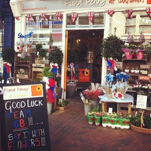 Fiona Penny's patriotic flower shop window display @svfuller's Instagram photos | Webstagram - the best Instagram viewer