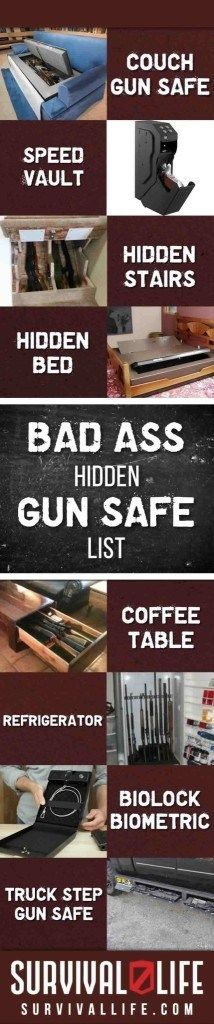 Hidden Gun Safe | List of 9 Badass Secret Gun Storage Lockers
