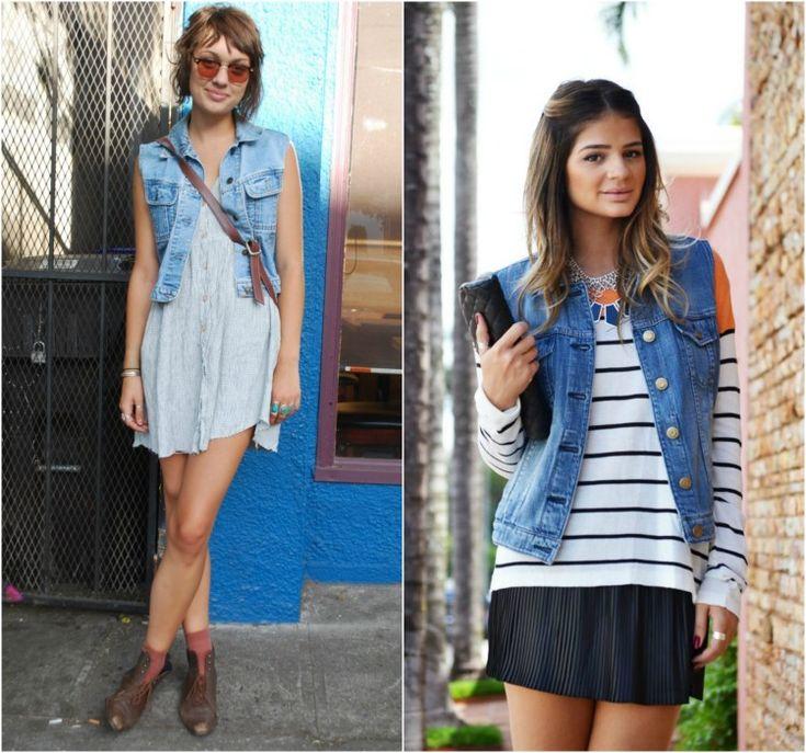 Colete Jeans é ótimo para complementar looks básicos, além de dar outra cara para aquela roupa que já enjoou de tanto usar.