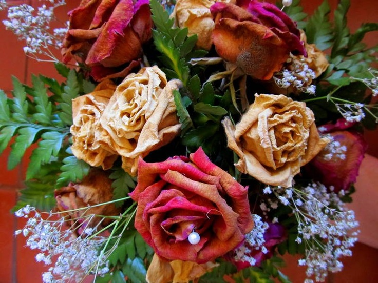 Dead bridesmaid roses