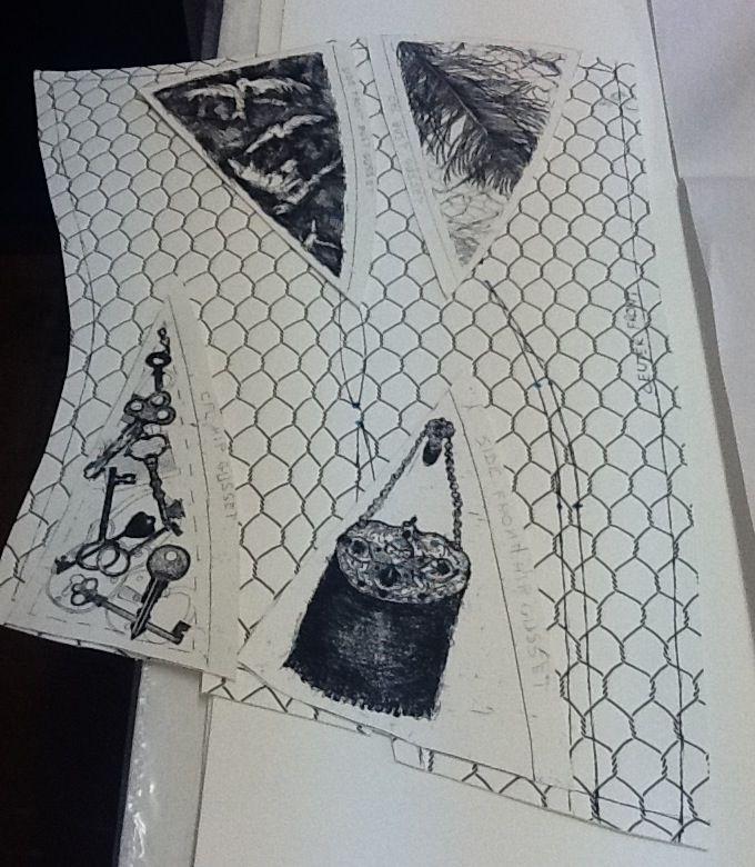 "Pauline Hugo -Corset Pattern ""Components of Pleasure"" #intaglio printing #hard ground #printing #Corset #lady #Women #Pleasure Victorian"