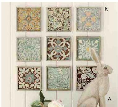 Patchwork Print Frame using scrapbook papers