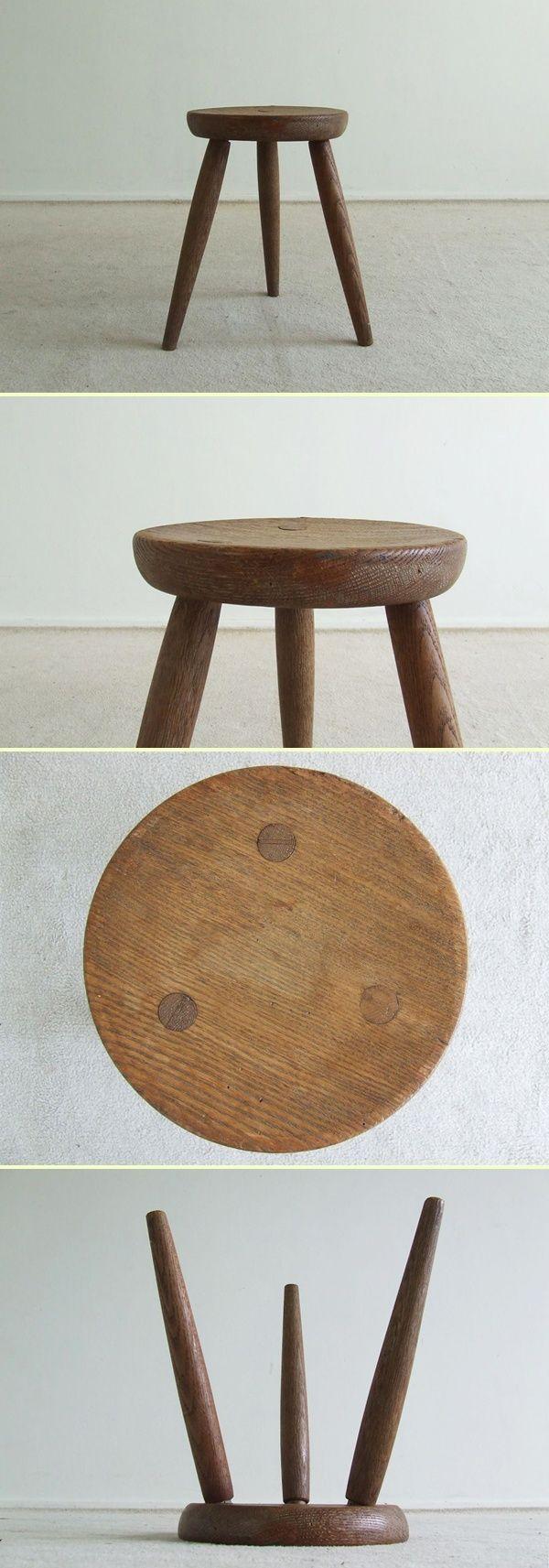 Charlotte Perriand oak stool (1702)