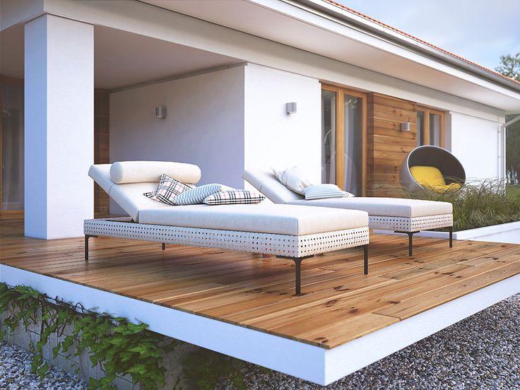 Ariel 5 (139,03 m2) to wersja projektu Ariel 4 z kątem nachylenia dachu 30 stopni. Pełna prezentacja projektu jest dostępna na stronie: https://www.domywstylu.pl/projekt-domu-ariel_5.php.  #projekty, #domy, #dom, #projekt, #ariel, #domywstylu, #mtmstyl, #architektura, #dom #parterowy, #energooszczedny, #architecture, #home, #houses