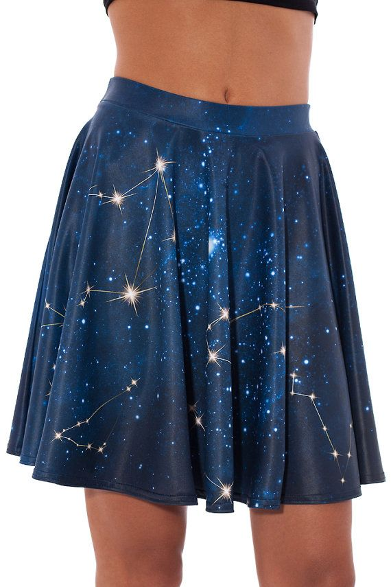 If you feel that the astrology is your deed, or have eccentric taste in zodiac signs and symbols, then this model will be bold addition to your lifestyle.♥  ►This skirt is perfect for all kind of social events. You will easily impress everyone with your super-cool looking outfit.  ►Material/Structure It is is made from top quality four-way stretch Italian Lycra® The fabric structure consists 82% Polyester and 18% Elastane. P.S – The dress glows in the dark if a strong UV light is pointed at…