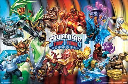 Trapmaster figurer til Skylanders trap team fra følgende elementer: jord, magi og udød.