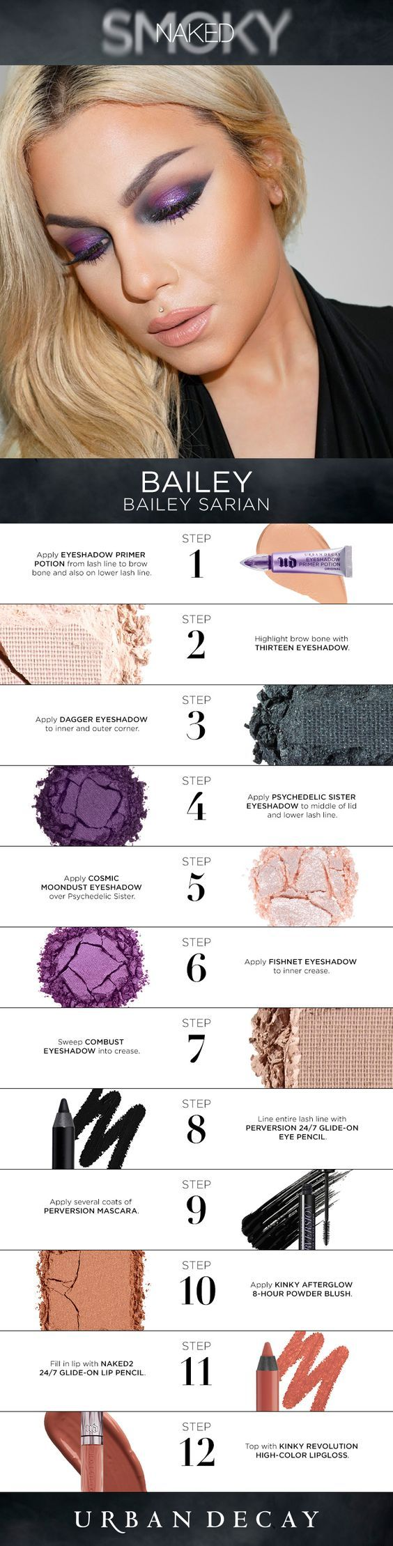 top 25+ best urban decay smoky palette ideas on pinterest | urban