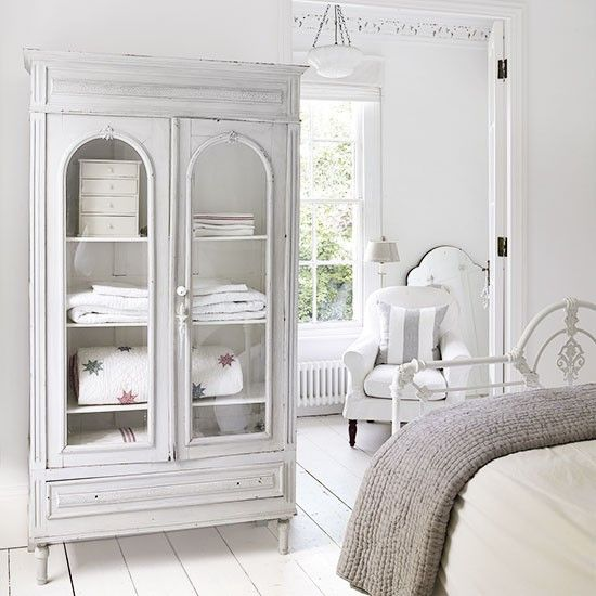 Bedroom linen cupboard in Georgian country house