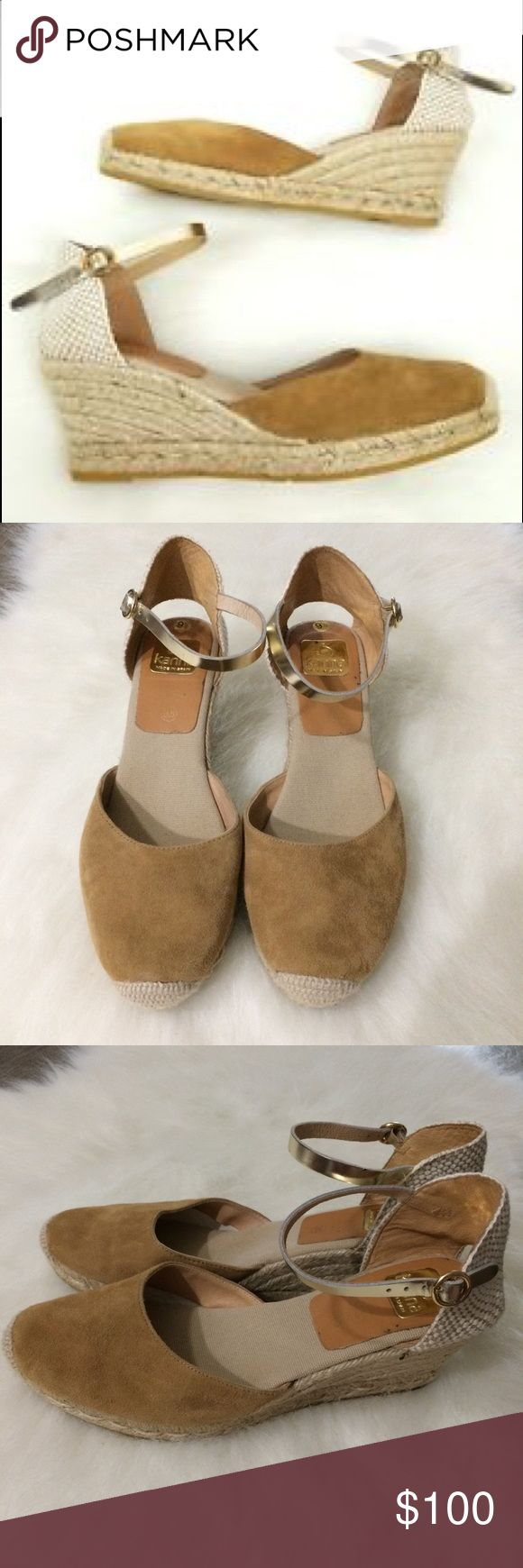 Kanna espadrille wedge closed toe sandals 9.5 Good used condition. kanna Shoes Espadrilles