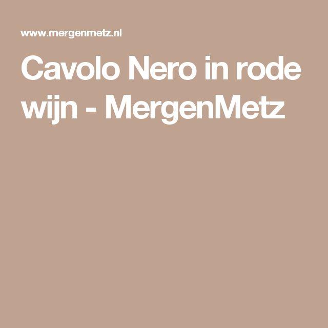 Cavolo Nero in rode wijn - MergenMetz