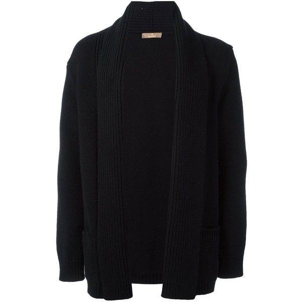 Cruciani shawl lapel ribbed cardigan (£1,125) ❤ liked on Polyvore featuring men's fashion, men's clothing, men's sweaters, black, mens ribbed sweater, mens cardigan sweaters, mens cashmere sweaters and mens cashmere cardigan sweater