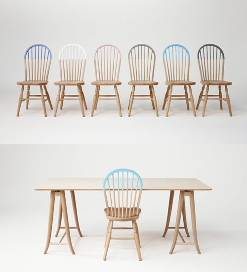 Half painted chair, Akimoku Windsor by Otsuka