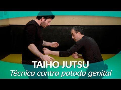 TAIHO JUTSU 5 (sistema japonés defensa personal policial)   Técnica contra patada zona genital - YouTube