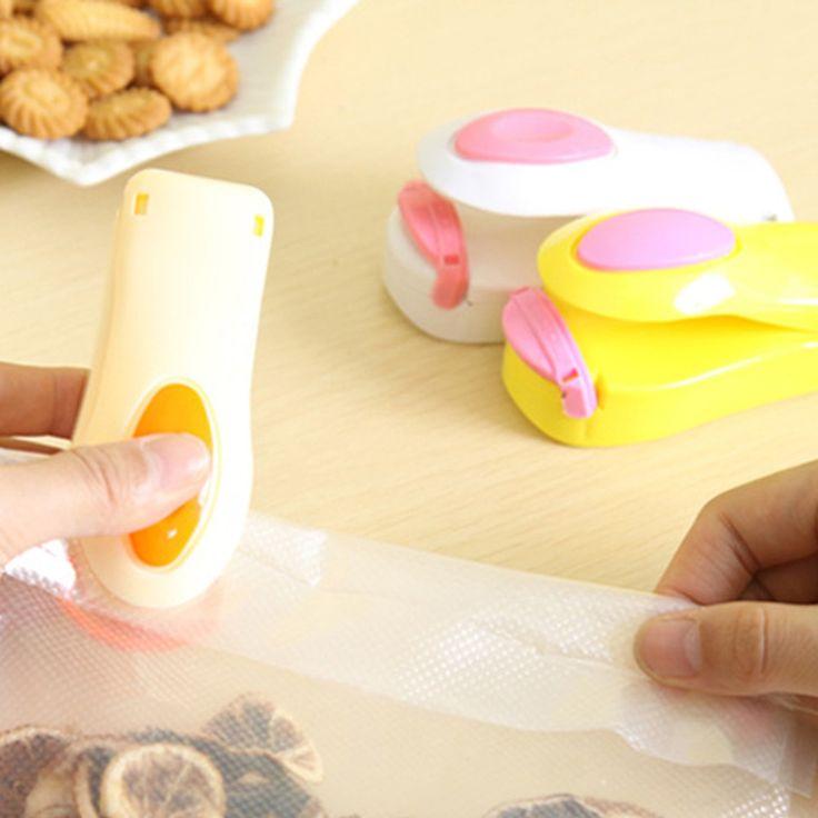 Huishoudelijke Mini Snacks Naadlasmachines Machine Draagbare Reizen Hand Druk Verwarming Hoofd Sluitmachine Keuken Accessoires