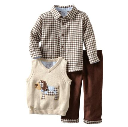 Mud Pie Baby-Boys Infant Puppy 3-Piece Sweater Set cute baby clothes for boys.  Like our fanpage at www.facebook.com/lovebabyclothes