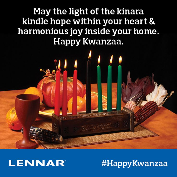 Lennar Atlanta warmly wishes you all the happiness hope and harmony of Kwanzaa.