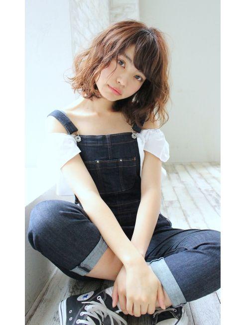 ジョエミバイアンアミ(joemi by Un ami)【joemi】ノームコアうぶバング×エアウェーブ(赤井希望)