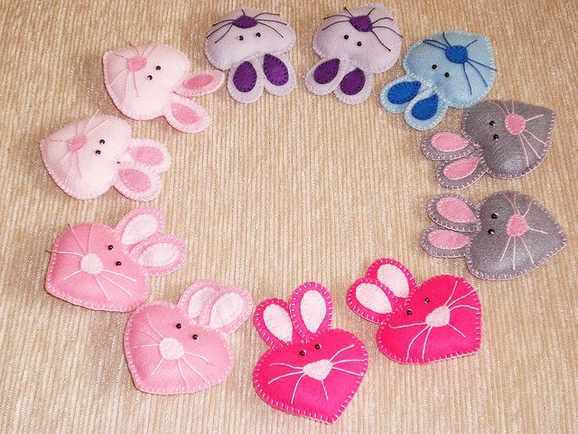 Cutest little felt bunnies