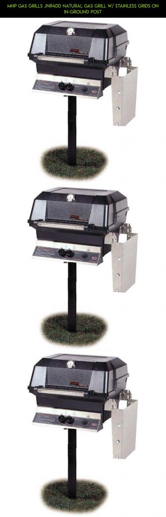 Mhp Gas Grills Jnr4dd Natural Gas Grill W/ Stainless Grids On In-ground Post #plans #gas #tech #technology #mhp #parts #shopping #gadgets #natural #grills #racing #drone #camera #products #kit #fpv
