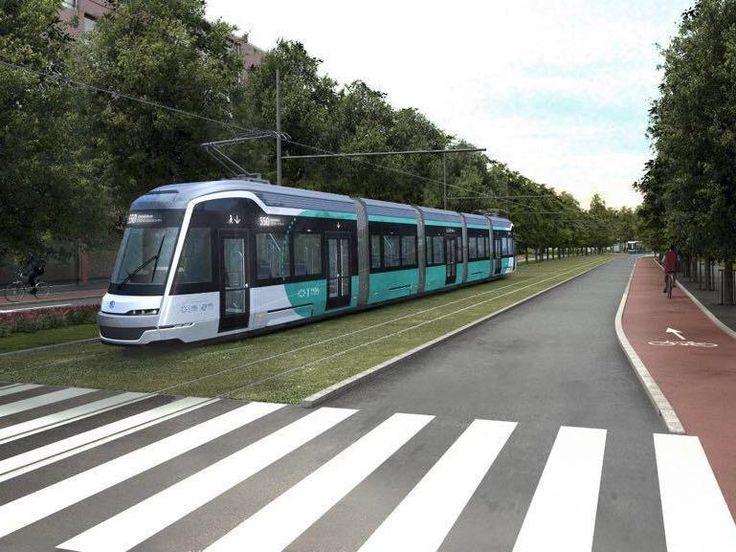 FINLAND: Helsinki transport operator HKL has unveiled the design of the Artic XL trams that would run on the future Raide-Jokeri orbital route... #HKL #trams #Škoda #Transtech