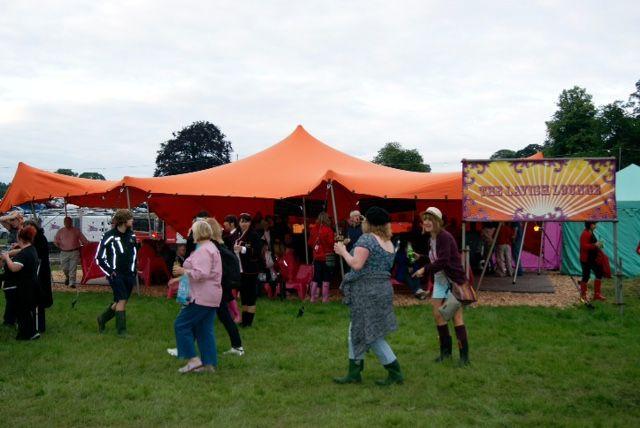Festival fun! Our stretch tent in situ