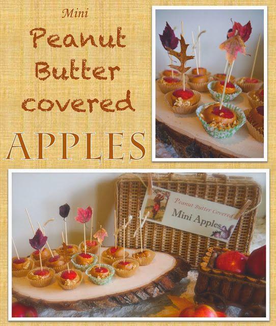 mini apples using melon baller and toothpicks easy DIY- fall treat