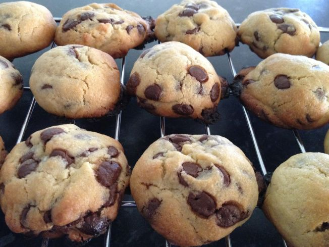 Chewy choc chip cookies in the BIKM