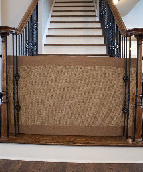 Look at this Mocha Stair Barrier Banister-to-Banister Gate on #zulily today!