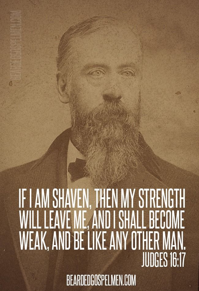 If I am shaven, then my strength will leave me...