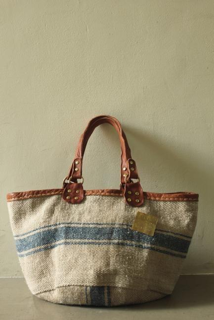 Antique German Grain Sack Tote Bag - IRRE