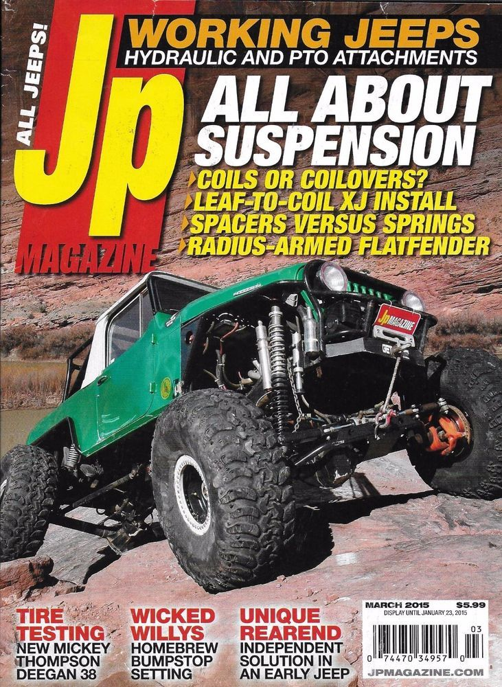 JP magazine Suspension Working jeeps Tires Wicked Willys Unique rear end