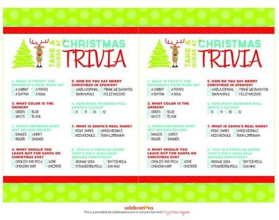 Free  Printable Christmas Trivia Games: Christmas Parties, Trivia Games, Parties Ideas, Christmas Wint, Christmas Games, Free Printable, Printable Christmas, Christmas Printable, Christmas Trivia