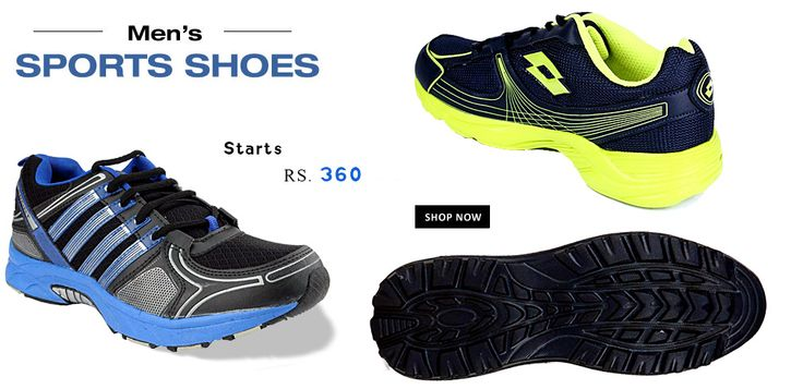 Largest Range of Men's Sports Shoes. Price at Rs 360.  Why Pick Only One ? Shop here >> http://hytrend.com/men/shoes/sports.html