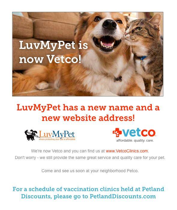 LuvMyPet is now Vetco! --- vaccine clinic veterinarian jobs
