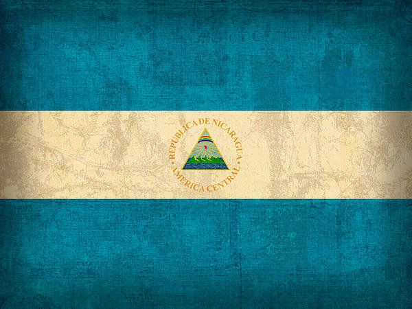 Nicaragua Flag Vintage Distressed Finish Print By Design Turnpike