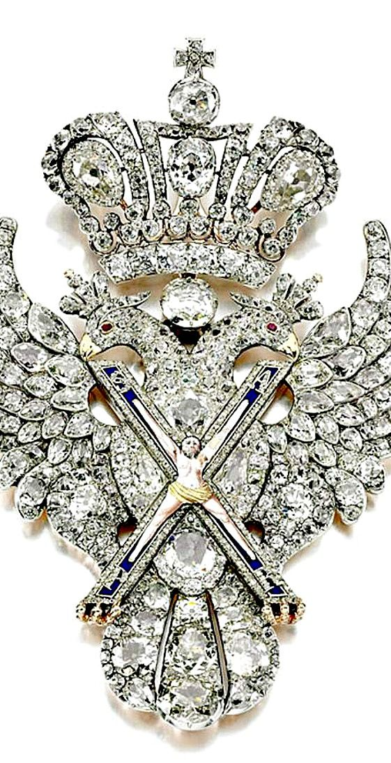 The Order of St Andrew, dating from 1800 belongs to the Russian crown jewels and is worth £2.7m