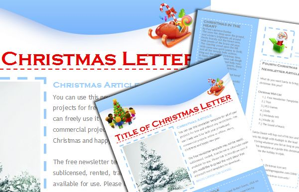 free christmas newsletter templates include when sending