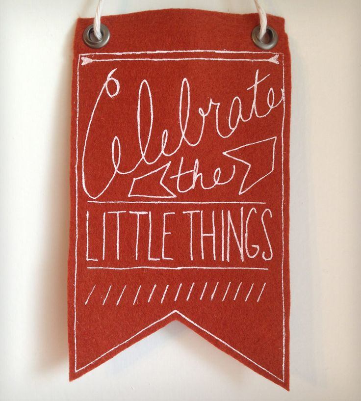 Celebrate The Little Things Mini Banner | Home Decor | Urban Bird & Co. | Scoutmob Shoppe | Product Detail